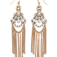 Off The Chain Fringe Studded Earrings