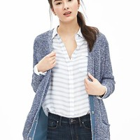 Banana Republic Womens Woven Back Cardigan