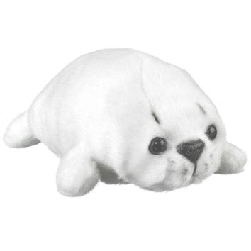 "7"" Harp Seal Pup Finger Puppets Stuffed Animals Conservation Collection"
