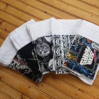 Starwars baby burp cloth set