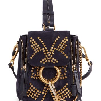 Chloé Mini Faye Studded Leather Backpack | Nordstrom