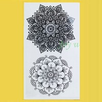 Waterproof Temporary Tattoo Sticker sexy lotus mandala totem tatto stickers flash tatoo fake tattoos for girl women