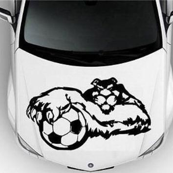 hood auto car vinyl decal stickers sport puma soccer football barcelona 6810  number 1