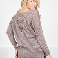 Shimmer Strap Holiday Sweater | Colors