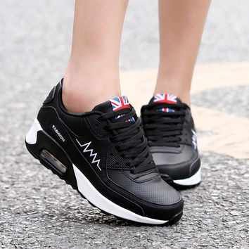 2016 fashion sport shoes brand casual shoes platform women shoes breathable woman trainers ladies footwear air superstar shoes