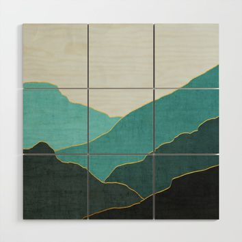 Minimal Landscape 04 Wood Wall Art by marcogonzalez