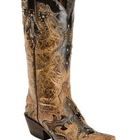 Lucchese 1883 Diabla Swarovski Crystal Cowgirl Boots - Snip Toe - Sheplers
