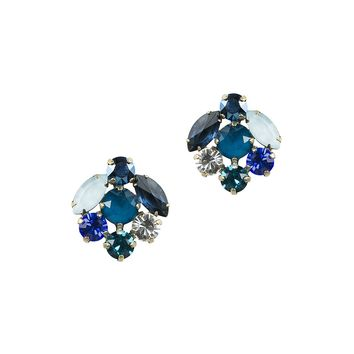 Abby Studs in Blue