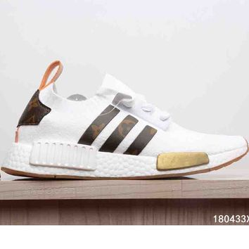 """LV Sneakers Shoes """"Adidas"""" NMD Fashion Trending Women Sneakers Running Sports Casual Shoes B-CSXY White"""