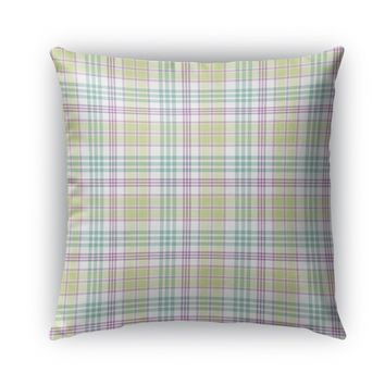 APRIL EASTER PLAID Indoor|Outdoor Pillow By Northern Whimsy