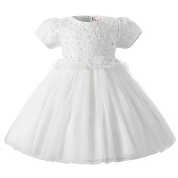 Newborn Dress Infant Baby Girl Christening Gown Toddler Girls 1 Year Birthday Gift White Lace Baptism Dress Baby Weding Dresses