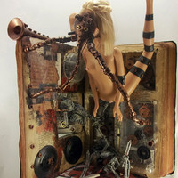 Altered Book Horror / Steampunk Fusion Found by runkpockart