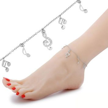 Cute Silver Owl Charms Anklet