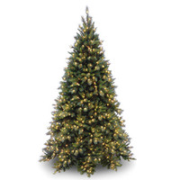 National Tree Co. Tiffany Fir 7.5' Green Artificial Christmas Tree with 700 Pre-Lit Clear Lights with Stand | AllModern