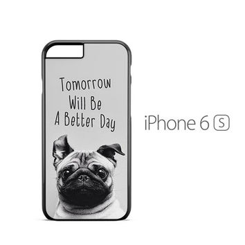 Wise Pug Quote iPhone 6s Case