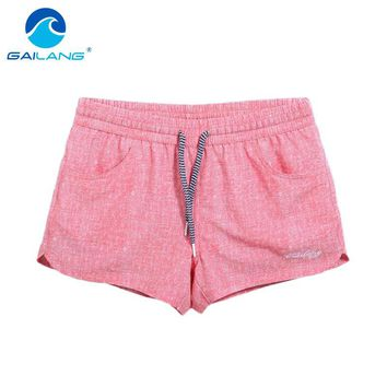 Gailang Brand Quick-drying Women shorts Swimwear Swimsuits Woman boardshorts polyster new Trunks Bermuda Casual Trunks