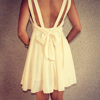 Double Strap 'Alice' Dress with Tie Back
