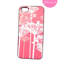 iPhone 5 Case Pink White Queen Annes Lace Ships from USA