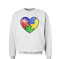 Big Puzzle Heart - Autism Awareness Sweatshirt by TooLoud