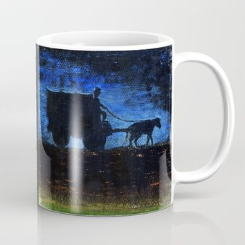 Carriage at sunset Mug by Josep Mestres