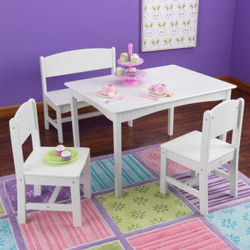 Nantucket Table with Bench & 2 Chairs