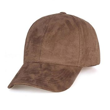 Simple style Unisex Spring Summer Adjustable Artificial Suede Baseball Cap Hat Solid Color Hats for women/men