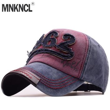 Trendy Winter Jacket High Quality Washed Baseball Cap 100% Cotton Snapback Cap 1962 Embroidery Hat Men Women Vintage Dad Cap Outdoor Sports Caps AT_92_12