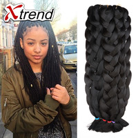 42'' 165g cheapest black kanekalon jumbo braiding hair box braids hair synthetic expression crochet  braiding hair extension
