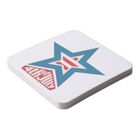 4th of July Star Square Paper Coaster