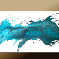 Abstract Modern Art Painting 36x24 Original by wostudios on Etsy