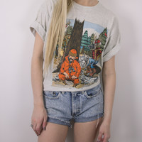 Vintage Deer Wilderness Grunge T Shirt