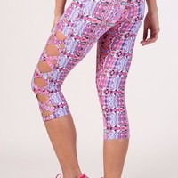 Equilibrium Activewear - Pink Workout Capris
