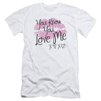 GOSSIP GIRL/YOU LOVE ME - S/S ADULT 30/1 - WHITE -