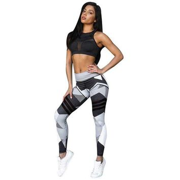 CREYM83 Womens Workout Mid Waist Leggings