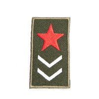 Iron-on Patch / Grade Badge / Embroidery / Military Patches / Army Badge Red Star / Aviator