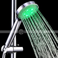 Randy Water Temperature Sensor 15-LED Color Changing Round Shower Head -8008A27 - DinoDirect.com