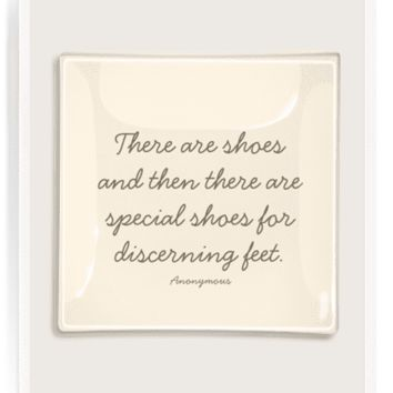 There Are Shoes Decoupage Glass Tray