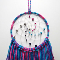 Pink, Blue, and Purple Multicolor Dream Catcher