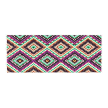 "Vasare Nar ""Boho Gipsy"" Purple Green Bed Runner"
