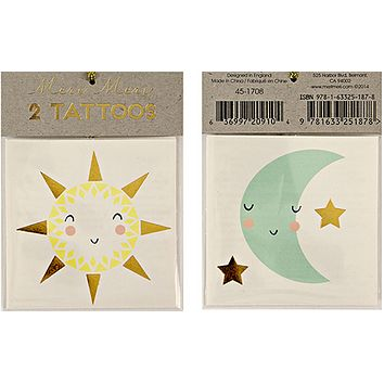 Sun and Moon Temporary Tattoos