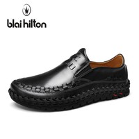 blaibilton Summer Handmade Genuine Leather Loafers Men Casual Shoes Boat Slip On Luxury Fashion Male Moccasins Driving Footwear