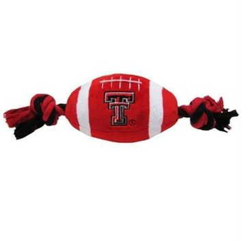 ONETOW Texas Tech Red Raiders Plush Football Dog Toy