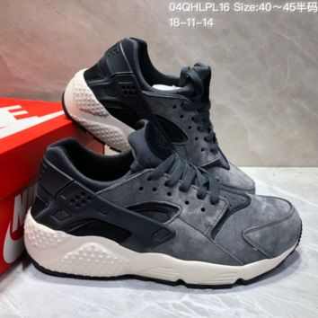 KUYOU N800 Nike Air Huarache Ultra Suede Retro Lightwight Running Shoes Dark Grey