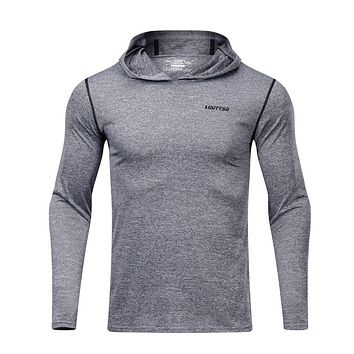 Men's Long Sleeve Quick-Dry Hooded Shirt