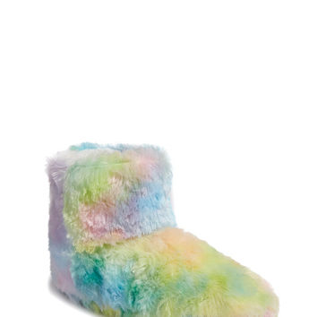 Fuzzy Rainbow Indoor Slippers