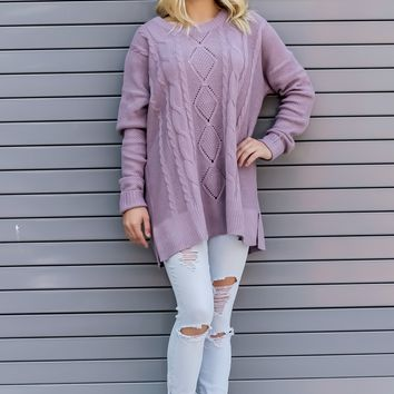 Faded Truth Purple Sweater