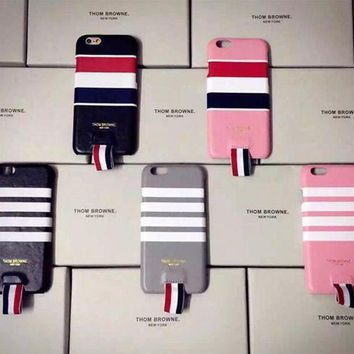 Kalete Thom browne: Creative leather case for iphone 6s  6 plus""