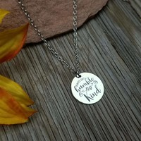 Humble & Kind Disk Necklace
