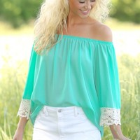 More Than Just Okay Blouse-Mint