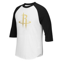 Houston Rockets adidas Precious Metals Raglan T-Shirt – Black/White